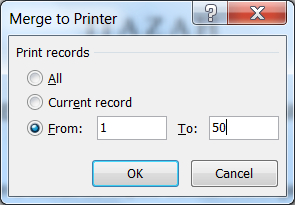 Kotak Dialog Merge to Printer