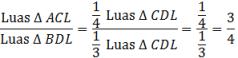 Rasio luas segitiga ACL dab BDL